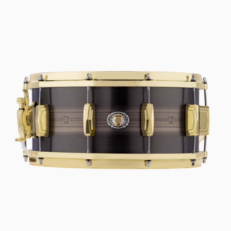 "루딕 LBR0714CX 7""x14"" 110th Anniversary ""Heirloom"" Black Brass Snare Drum"