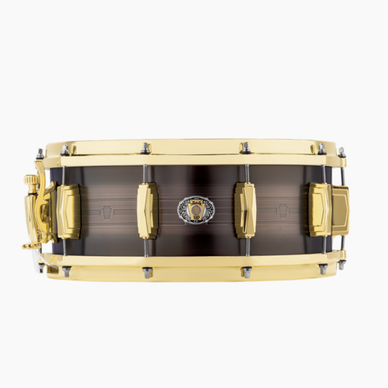 "루딕 LBR5514CX  5.5""x14"" 110th Anniversary ""Heirloom"" Black Brass Snare Drum"
